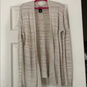 Rue 21 cardigan sweater with braided back